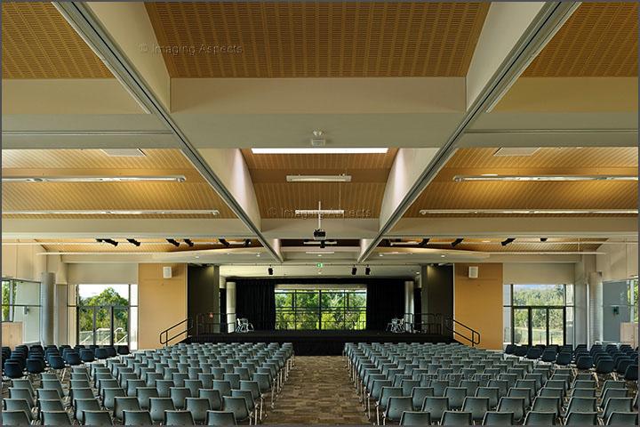 Auditorium interior at the Monash University Gippsland Campus in Churchill, Victoria.