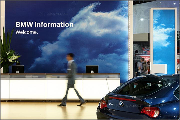 BMW information desk taken at the Melbourne Car Show for Exponential Design.