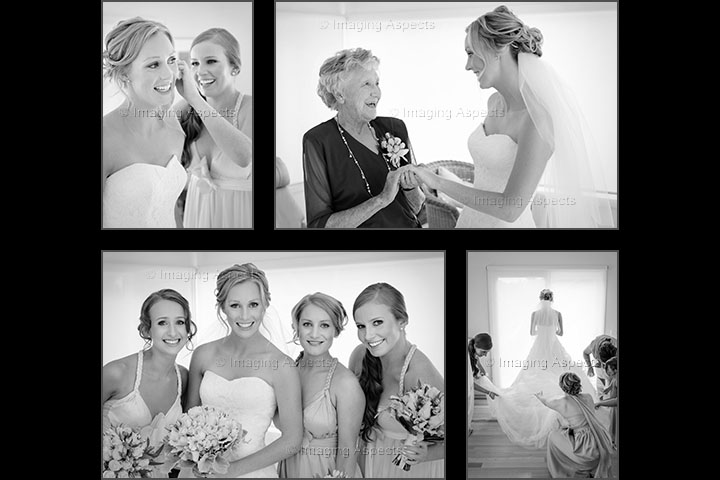 Candid photographs of the bride's wedding preparations in Shoreham, Victoria.